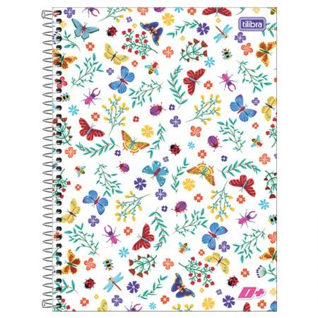 Caderno espiral capa dura universitário 10x1 - 200 folhas - D Mais - Passarinho - Tilibra