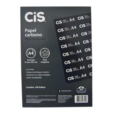 Carbono preto para máquina A4 - caixa com 100 folhas - Cis