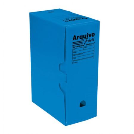 Arquivo morto plástico ofício novaonda azul - Polibras