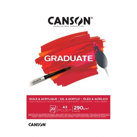 Bloco graduate óleo e acrílico A3 290g - com 20 folhas - Canson