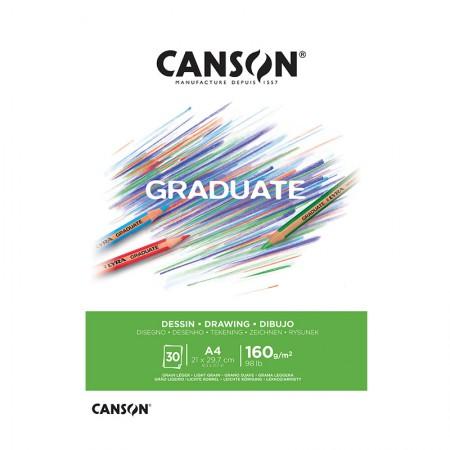 Bloco graduate desenho A4 160g - com 30 folhas - Canson