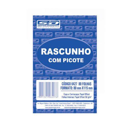 Rascunho sulfite JB 8X11 - com 80 folhas - São Domingos