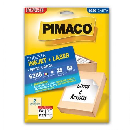 Etiqueta inkjet/laser carta 6286 - com 25 folhas - Pimaco