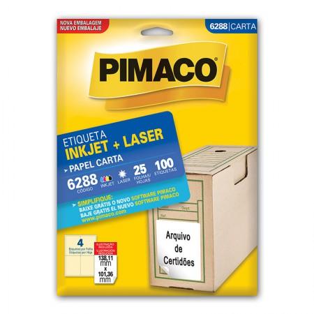 Etiqueta inkjet/laser carta 6288 - com 25 FOLHAS - Pimaco