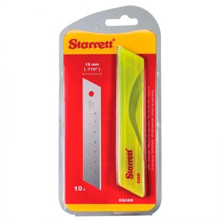 Lâmina para estilete largo - com 10 unidades - Starrett
