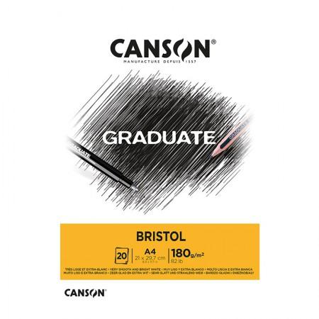 Bloco graduate bristol A4 180g - com 20 folhas - Canson