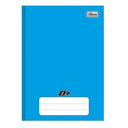 Caderno brochura capa dura 1/4 - 96 folhas - D mais - Azul - Tilibra