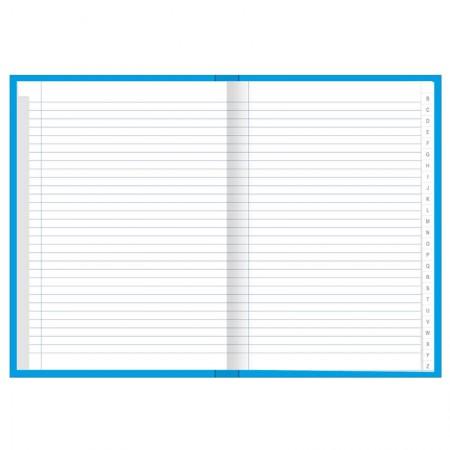 Caderno brochura capa dura com índice 1/4 - 96 folhas - Academie - Tilibra