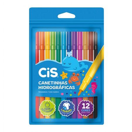Caneta hidrográfica Color - 48.6103 - com 12 cores - Cis