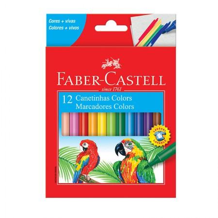 Caneta hidrográfica prestocolor - 150112CZF - com 12 cores - Faber-Castell