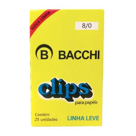 Clips galvanizado NR 8/0 - com 25 unidades - Bacchi
