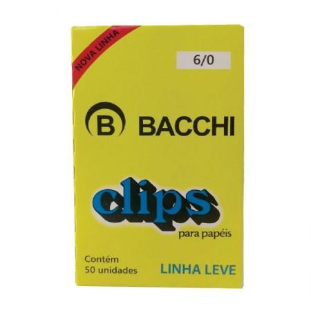 Clips galvanizado NR 6/0 - com 50 unidades - Bacchi