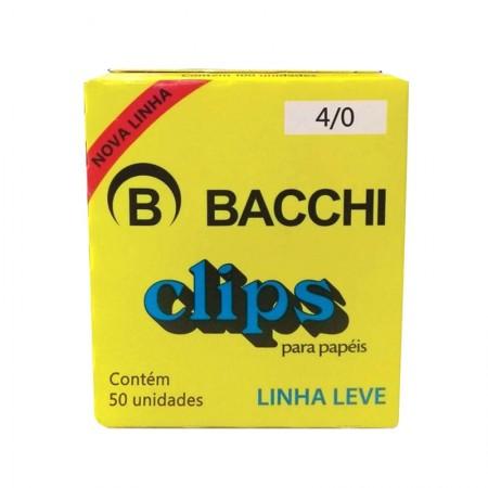 Clips galvanizado NR 4/0 - com 50 unidades - Bacchi