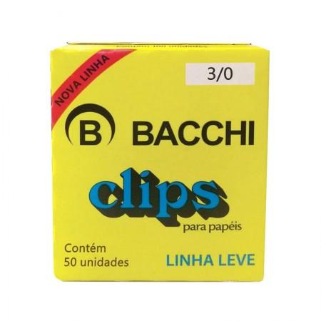 Clips galvanizado NR 3/0 - com 50 unidades - Bacchi