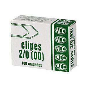 Clips galvanizado NR 2/0 (00) - com 100 unidades - ACC