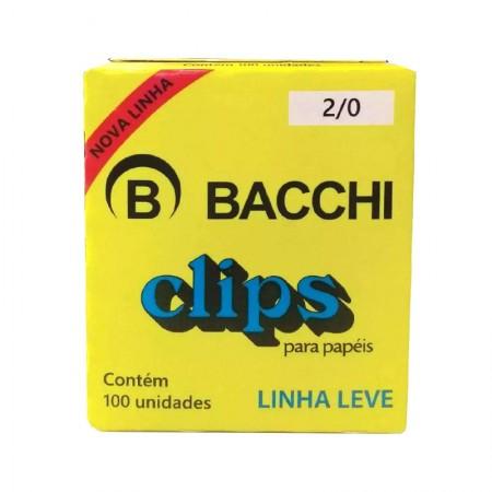 Clips galvanizado NR 2/0 (00) - com 100 unidades - Bacchi