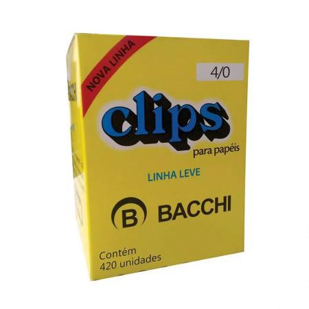 Clips galvanizado NR 4/0 - com 420 unidades - Bacchi