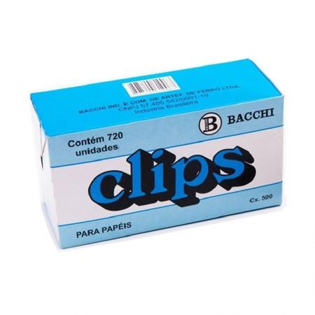 Clips galvanizado NR 2/0 (00) - com 720 unidades - Bacchi