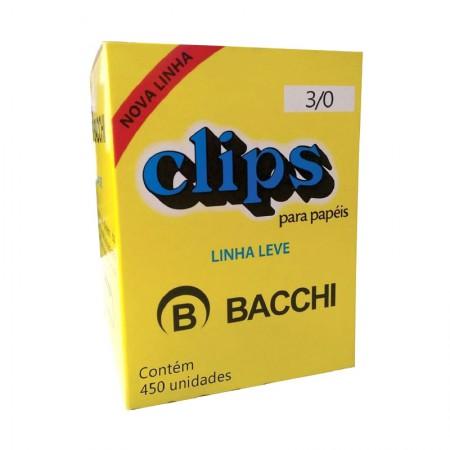 Clips galvanizado NR 3/0 - com 450 unidades - Bacchi