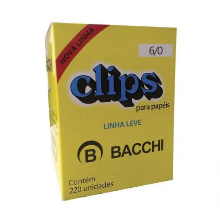 Clips galvanizado NR 6/0 - com 220 unidades - Bacchi