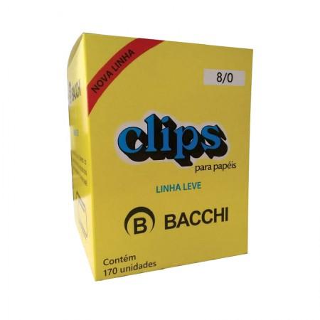 Clips galvanizado NR 8/0 - com 170 unidades - Bacchi