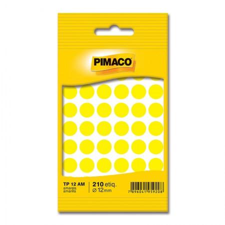 Etiqueta adesiva TP12 - amarelo - Pimaco