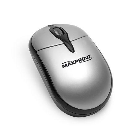 Mouse USB óptico 60528-0 prata/preto - Maxprint