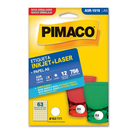 Etiqueta inkjet/laser A5R1919 - Pimaco