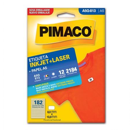 Etiqueta inkjet/laser A5Q813 - Pimaco