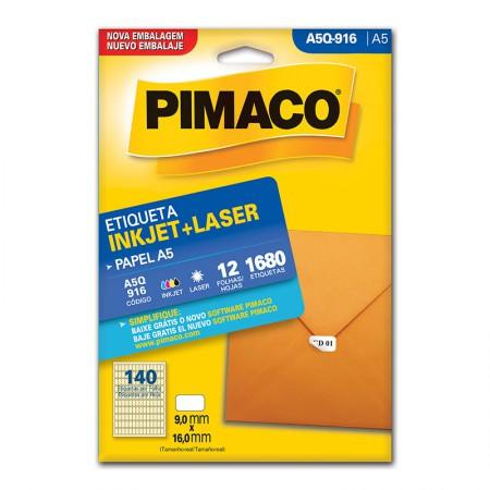 Etiqueta inkjet/laser A5Q916 - Pimaco