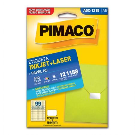Etiqueta inkjet/laser A5Q1219 - Pimaco