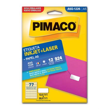 Etiqueta inkjet/laser A5Q1226 - Pimaco