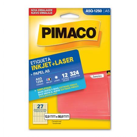 Etiqueta inkjet/laser A5Q1250 - Pimaco