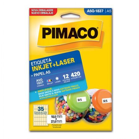 Etiqueta inkjet/laser A5Q1837 - Pimaco