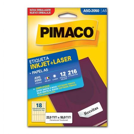 Etiqueta inkjet/laser A5Q2050 - Pimaco