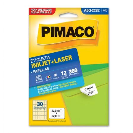 Etiqueta inkjet/laser A5Q2232 - Pimaco