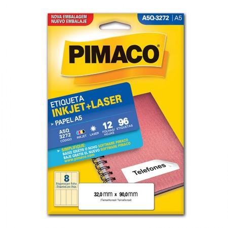 Etiqueta inkjet/laser A5Q3272 - Pimaco