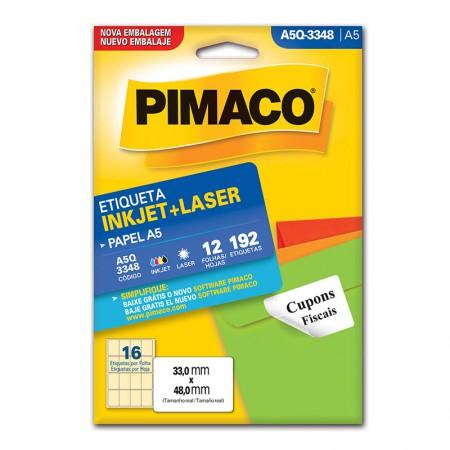 Etiqueta inkjet/laser A5Q3348 - Pimaco