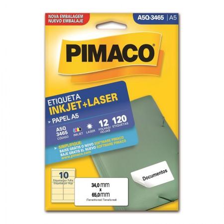 Etiqueta inkjet/laser A5Q3465 - Pimaco