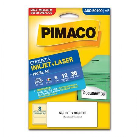 Etiqueta inkjet/laser A5Q50100 - Pimaco
