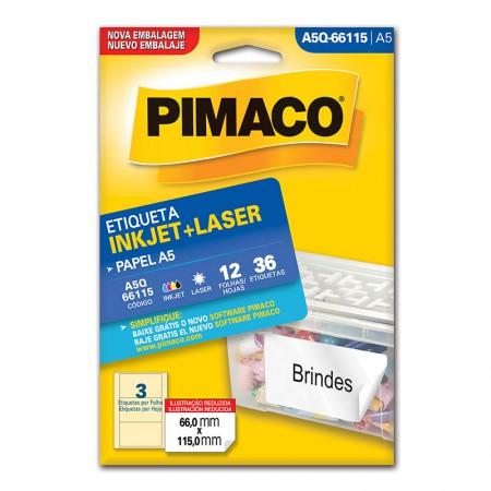 Etiqueta inkjet/laser A5Q66115 - Pimaco