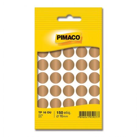Etiqueta adesiva TP16 - ouro - Pimaco