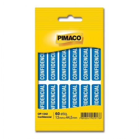 Etiqueta adesiva OP1342 - confidencial - Pimaco