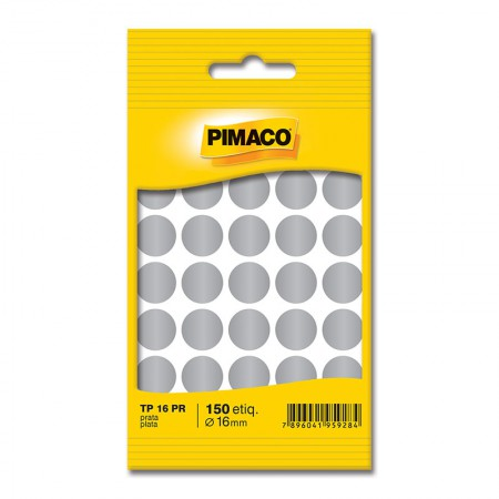 Etiqueta adesiva TP16 - prata - Pimaco