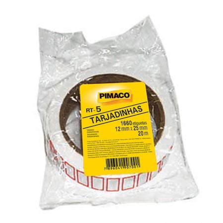 Etiqueta para preço RT-5 - rolo com 20 metros - tarjadinha - Pimaco