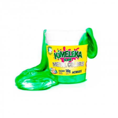 Kimeleka Art Kids metálica 180g - Verde 670 - Acrilex