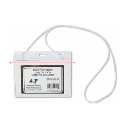 Crachá plástico com cordão C-11 - 80x120mm - ACP