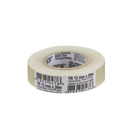 Fita adesiva durex transparente - 12mmx30m - 3M
