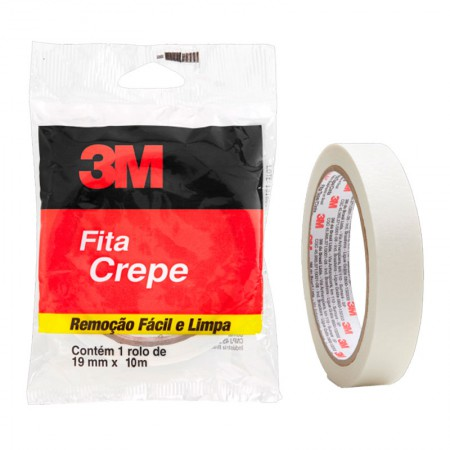 Fita crepe 19mm x 10m - Flow Pack - 3M
