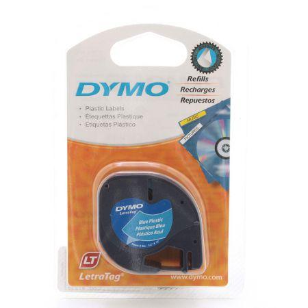 Fita p / rotulador LetraTag 12mm 91335 azul escrita preto Dymo